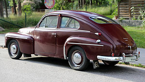Volvo PV444/544 - Image: 1954 Volvo PV444 HS rear side