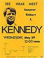 1968 Robert F Kennedy California Primary La Arrival Leaflet.jpg
