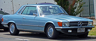 Mercedes-Benz R107 and C107 - 1971-1976 350SLC coupe — note longer wheelbase and rear pillar with louvres
