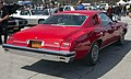 1974 Pontiac Grand Am two-door Hardtop in red, rear right.jpg