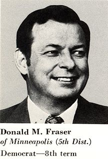 Donald M. Fraser American politician