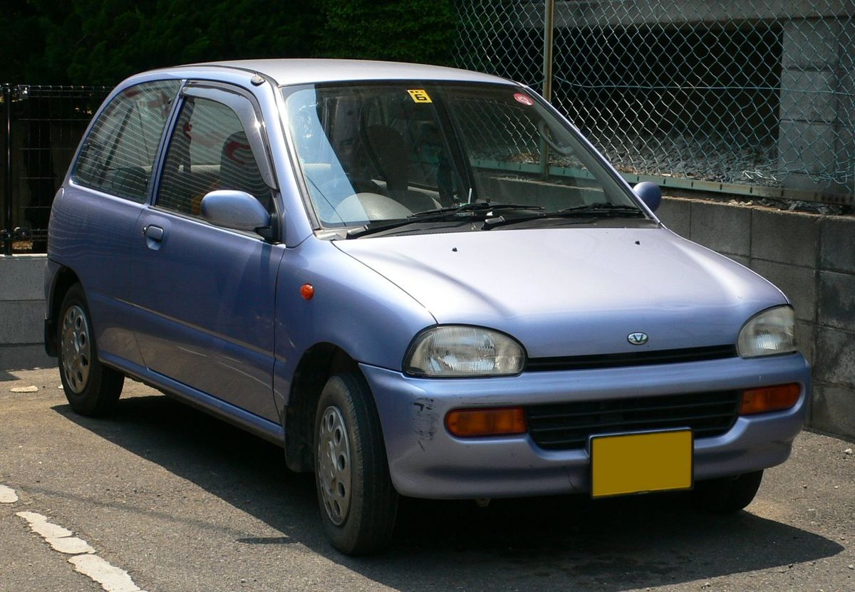 Subaru Vivio on car light top