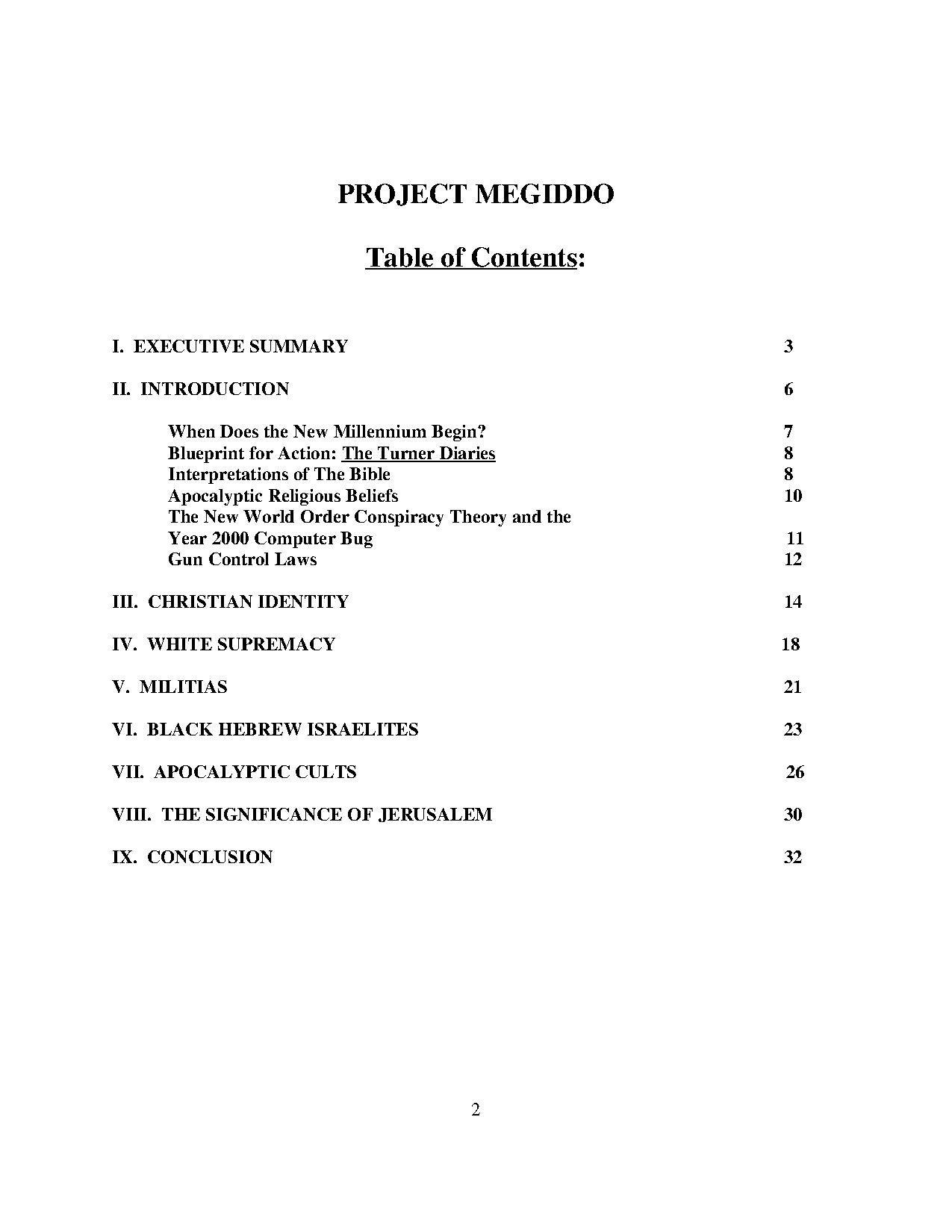 project megiddo
