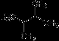 Strukturformel von 2,3-Dimethylbutan