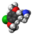 2,5-Dimethoxy-4-chloroamphetamine molecule spacefill.png