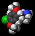 2,5-Dimethoxy-4-chloroamphetamine molecule spacefill.png