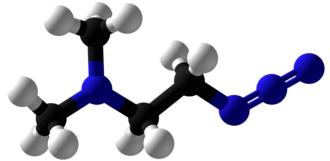 2-Dimethylaminoethylazide - Image: 2 Dimethylaminoethylaz ide Ball and Stick
