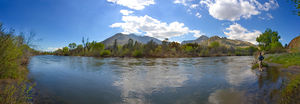 Kern River - Panorama of the upper Kern River