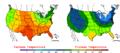 2006-05-23 Color Max-min Temperature Map NOAA.png