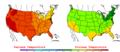 2006-07-24 Color Max-min Temperature Map NOAA.png
