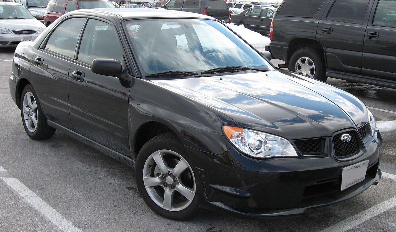 File 2006 2007 Subaru Impreza 2 5i Sedan Jpg Wikimedia