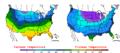 2008-02-10 Color Max-min Temperature Map NOAA.png