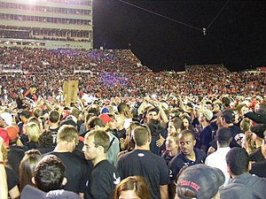 2008 Texas vs. Texas Tech football game - Image: 2008 TT Uvs TT Fans