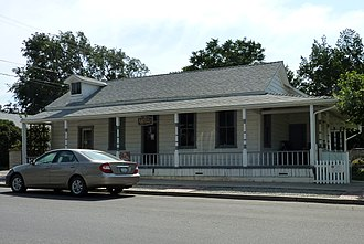 Tehachapi, California - The Errea House, originally built in the early 1870s in Tehichipa, was moved to Tehachapi in 1900 and is now a museum; it is also listed on the NRHP.