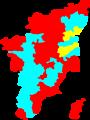2009 tamil nadu lok sabha election map by upa contesting parties.png