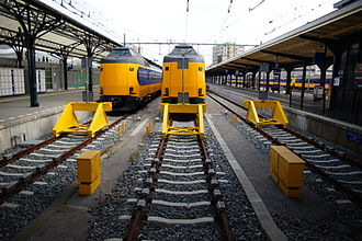 Groningen railway station - NS intercity trains at the station