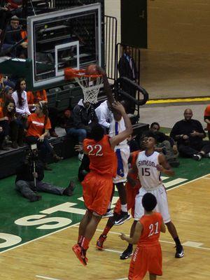Kendrick Nunn - Nunn dunks an inbounds alley oop from Jabari Parker over Jahlil Okafor.
