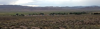 Duckwater, Nevada - Image: 2014 07 18 18 10 25 View of Duckwater, Nevada from the east cropped
