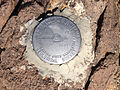 2014-10-19 12 01 02 United States Geological Survey Bench Mark on the south summit of Mount Jefferson, Nevada.JPG