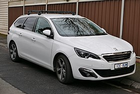 2014 Peugeot 308 (T9) Allure Touring station wagon (2015-07-03) 01.jpg