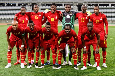 Black Stars, the Ghana national football team. 20150331 Mali vs Ghana 042.jpg