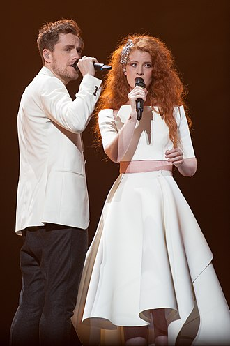 Norway in the Eurovision Song Contest 2015 - Mørland and Debrah Scarlett at a dress rehearsal for the second semi-final