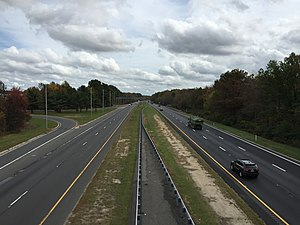 Robbinsville Township, New Jersey - I-195 is the largest highway providing access to local roads in Robbinsville