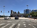 2018-07-08 13 22 49 View east along Interstate 78 and New Jersey State Route 139 (12th Street) just west of the toll plaza for the Holland Tunnel in Jersey City, Hudson County, New Jersey.jpg