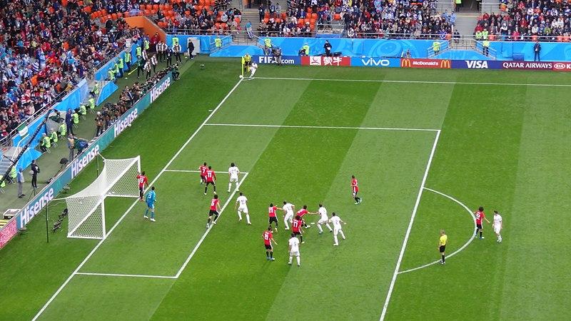 File:2018 FIFA World Cup Group A march EGY-URU - Carlos Sánchez corner.jpg
