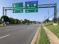 2019-08-08 08 58 04 View south along U.S. Route 29 (Seminole Trail) at the exit for Virginia State Route 631 (Rio Road, Charlottesville) in Woodbrook, Albemarle County, Virginia.jpg