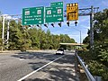 2019-09-23 15 18 24 View east along Maryland State Route 100 (Paul T. Pitcher Memorial Highway) at Exit 16B (Maryland State Route 2 NORTH TO Maryland State Route 10 NORTH, Glen Burnie) in Pasadena, Anne Arundel County, Maryland.jpg