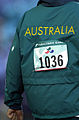 211000 - Athletics track 100m semi Australian uniform jacket - 3b - 2000 Sydney race photo.jpg