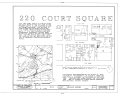 220 Court Square (House), Sixth Street, Northeast, Charlottesville, Charlottesville, VA HABS VA,2-CHAR,5- (sheet 1 of 5).png