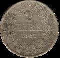 2 Lire Vatican 1867 revers.png