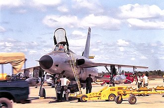 Korat Royal Thai Air Force Base - 36th Tactical Fighter Squadron F-105D having MK-82 500 pound bombs being loaded prior to a mission, Korat, 1964