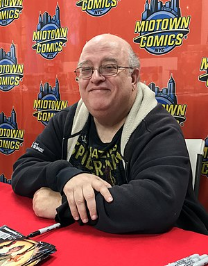 Peter David - David at an April 27, 2017 signing for Ben Reilly: The Scarlet Spider at Midtown Comics