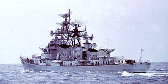 Kashin-class destroyer - A Kashin-class destroyer in the Mediterranean in January 1970.