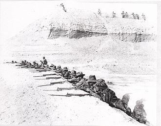 British occupation of the Jordan Valley - 5th Light Horse Regiment at left bank outpost April 1918
