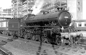 Steam locomotives of British Railways - BR-built LNER Thompson Class B1 61306 at Leeds City in 1966 or 1967.