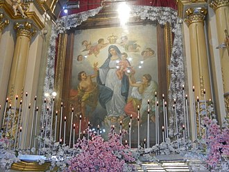 Our Lady of Light Parish Church - The venerated painting of the Our Lady of Light after undergoing conservation treatment. Pope Francis granted its Canonical coronation on 6 December 2017.