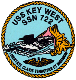 USS Key West (SSN-722) - Image: 722insig