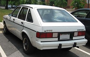 Chevrolet Chevette - The revised rear of a Chevette CS, with larger, blockier taillight units