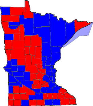 United States Senate election in Minnesota, 1996 - Image: 96MNSenate Counties