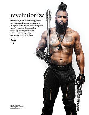 "Alphonso A'Qen-Aten Jackson - Taji Mag Volume 10 ""Revolutionize"" Loc Artistry: Mz Lady Lox Photographer: NayMarie"