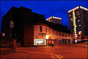 ABC Cinema, Wakefield - The disused cinema at night