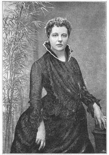 Annie Besant in 1885. Photograph by H.S. Mende...