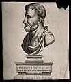 A. Cornelius Celsus, profile bust on a pedestal. Engraving. Wellcome V0018764.jpg