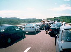 A1 Motorway in Slovenia near Postojna - summer 1999.JPG
