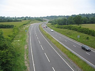 A303 road - Parts of the A303 were upgraded to dual carriageway throughout the late 20th century.