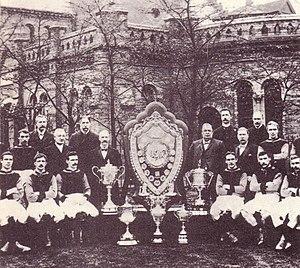 The Aston Villa team of 1897 that won The Double.